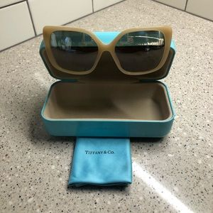 Tiffany & Co Beige Sunglasses for Woman